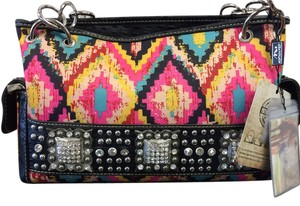 Montana West Studded Pattern Shoulder Bag