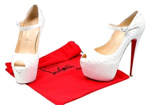 Christian Louboutin Trumpet Pumps Hidden White Platforms