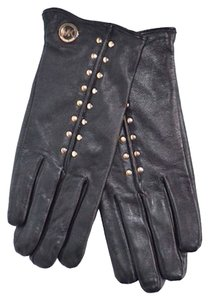 Michael Kors MICHAEL KORS MK BLACK LEATHER GLOVES, NEW WITH TAG SIZE Medium