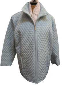 Portrait Plus Size Spring Quilted Baby Blue Jacket