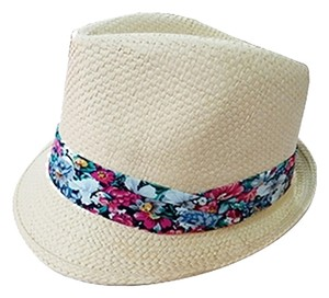 Other Beige Floral Accent Summer Hat Fedora