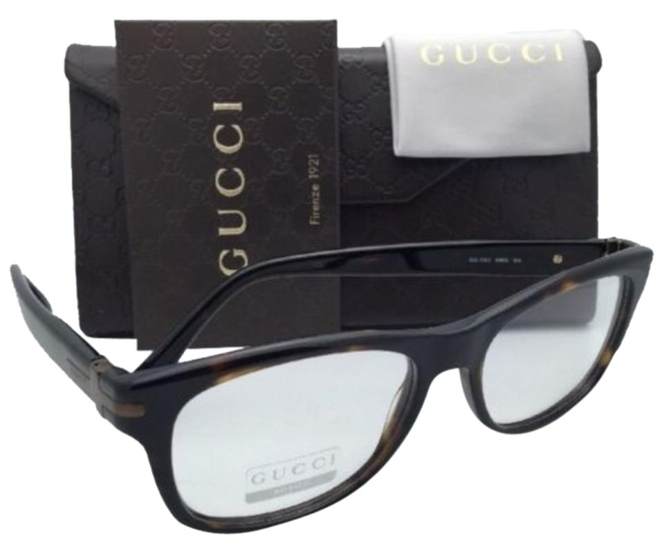 90bd242422 Gucci New GUCCI Eyeglasses GG 1052 WR9 53-17 Brown Havana Frame w  Clear ...