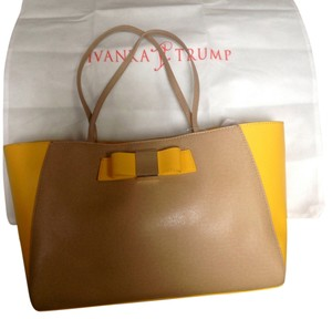 Ivanka Trump Tote in Mustard Yellow/beige