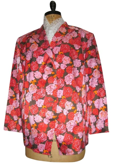 Item - Pink Orange Red Brown Spring Collection Blazer Size 24 (Plus 2x)