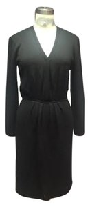 St. John Couture Shift Evening Long Sleeve Tunic Smocked Waist Dress