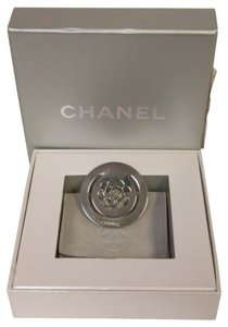 Chanel Chanel Elegant Chrome CC Camellia Pince A Billet Money Clip Rose