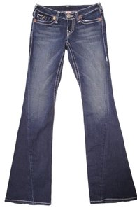 True Religion Designer Boot Cut Jeans-Dark Rinse