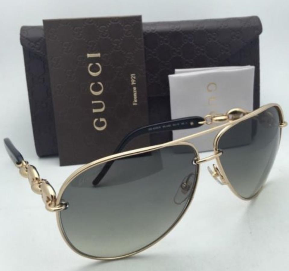 cdae73fdb5444 Gucci Gg 4225 S Wl4ae Gold   Black W  Grey Gradient New Aviator 4225 ...