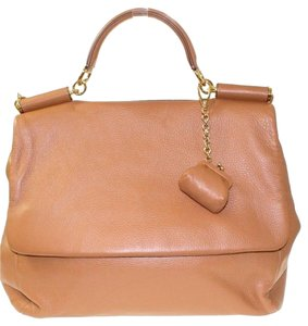 Dolce&Gabbana Dolce & Gabbana D&g Leather Coin Gold Tote in Camel