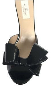 Valentino Couture Bow Couture Bow Wedge Black Wedges