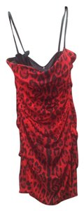 Dolce & Gabbana Chic Silk Leopard Evening Sleeveless Sleek Structured Dress