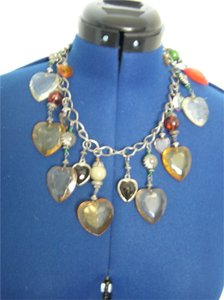 Vintage 1980's Heart Charm Necklace
