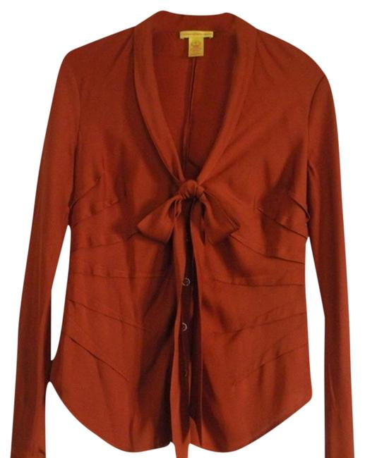 Preload https://item4.tradesy.com/images/catherine-malandrino-rust-blouse-size-12-l-1064443-0-1.jpg?width=400&height=650