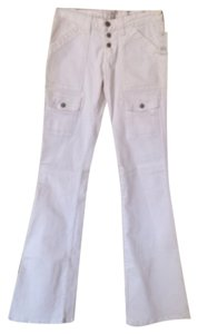 Joie Size 26 Button Fly Cargo Nwt Stretchy Boot Cut Jeans-Light Wash