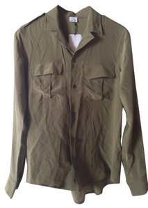 Iris & Ink Top Olive Green