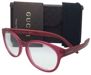 Gucci New GUCCI Eyeglasses GG 3547 5D9 51-17 Red & Pink Frame w/ Clear Demo Lenses