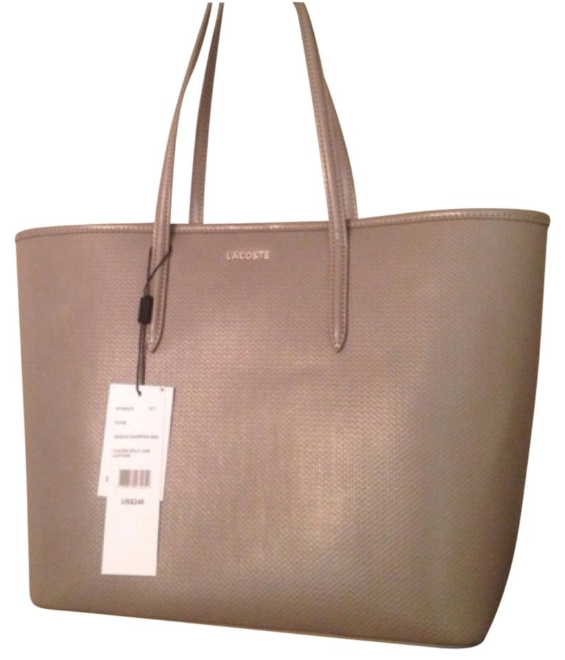 75883f9ad Lacoste Grey Leather Tote - Tradesy