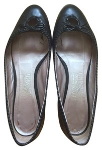Salvatore Ferragamo Leather Patent Leather Black Flats