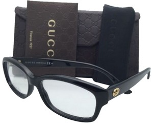 Gucci New GUCCI Eyeglasses GG 3607 807 52-15 140 Black Frame w/ Clear Demo Lenses