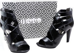 Nicole Miller Leather Black Platforms