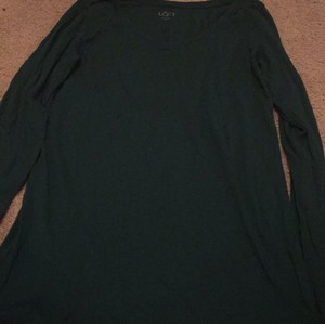 Ann Taylor LOFT T Shirt Dark green