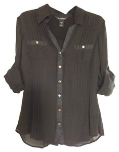 White House | Black Market Button Down Shirt Blac