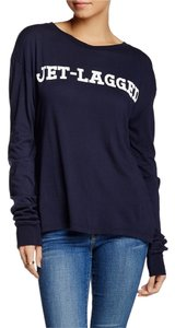 Wildfox Jet-lagged Large T Shirt BLACK