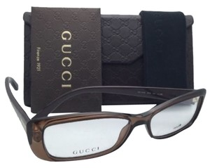 Gucci New GUCCI Eyeglasses GG 3568 WH9 53-14 140 Brown Beige Frame w/Clear Demo Lenses