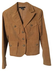 Zara Wool Elbow Patches Brown Blazer