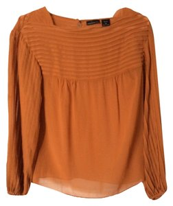 Moda International Tunic 100% Silk Top Apricot