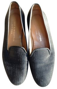 Stubbs & Wootton Wooten midnight blue Flats