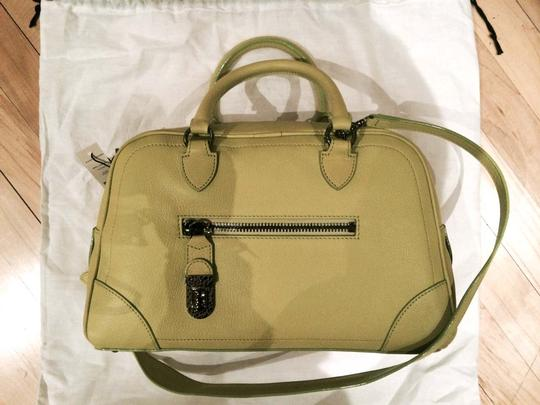 Marc Jacobs Crossbody Leather Carryall Satchel in Yellow