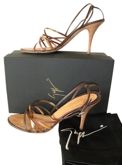 Giuseppe Zanotti Brown, bronze, tan Sandals