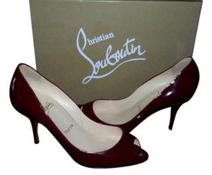 Christian Louboutin Made In Italy Slim Red Wine Pumps