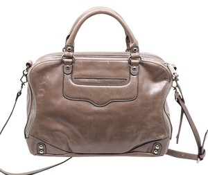 Rebecca Minkoff Designer Luxury Satchel in Soft Grey