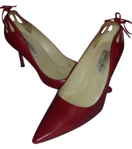 Jimmy Choo Made In Italy Slim Color Original Red Leather Pumps