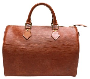 Louis Vuitton Epi Leather Satchel in Brown