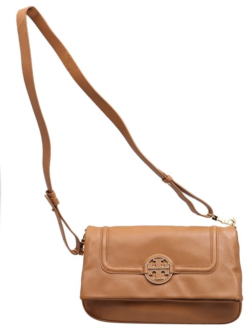Item - Amanda * Fold-over In Camel Leather Messenger Bag