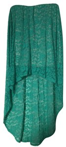 Audrey 3+1 Skirt Teal and beige