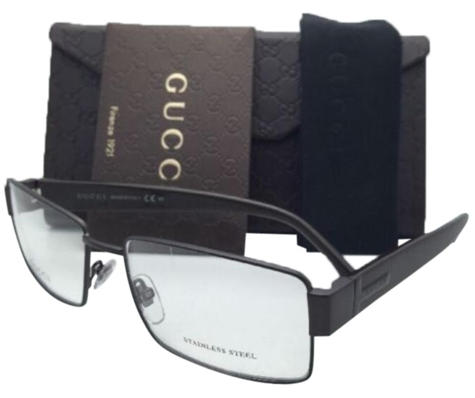 600c361e12af0 Gucci New GUCCI Eyeglasses GG 2217 L13 55-16 Cocoa Brown Frame w  Clear ...