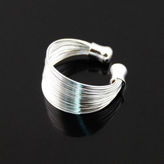 Silver Bogo Free Sterling Plated Adjustable Free Shipping Ring