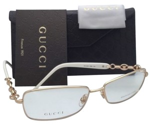 Gucci New GUCCI Eyeglasses GG 4251 DDB 57-15 130 Gold Copper & White Frames w/ Clear Lenses