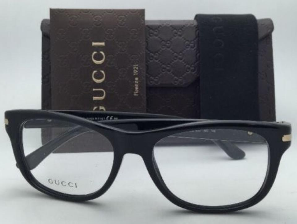493b14bf9c Gucci Gg 1052 807 Black   Gold Frame New Eyeglasses 53-17 W  Clear Demo  Lenses - Tradesy