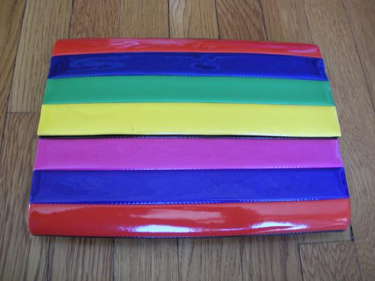 Lisa Perry Black and multi-color Clutch