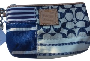 Coach Signature Patchwork Canvas Medium Daisy Wristlet in multi-color