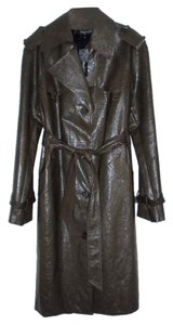 Alvin Valley Water-repellant Patent Leather Trench Coat