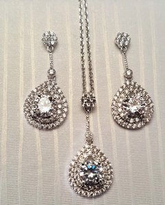 Romantic Cubic Zirconia Bridal Jewelry Set