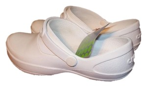Crocs Nursing Vet Tech Comfortable Slip-on White Mules