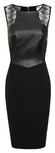 Item - Black Lace Panel Backless Short Night Out Dress Size 4 (S)