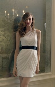 Watters Ivory Chiffon 296 Modern Bridesmaid/Mob Dress Size 10 (M)